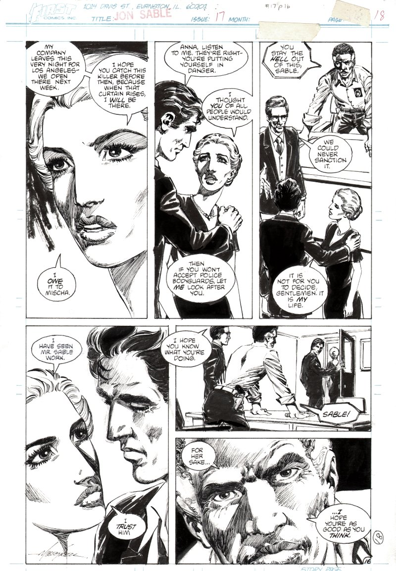 Jon Sable Freelance #17 p 16 (1984)