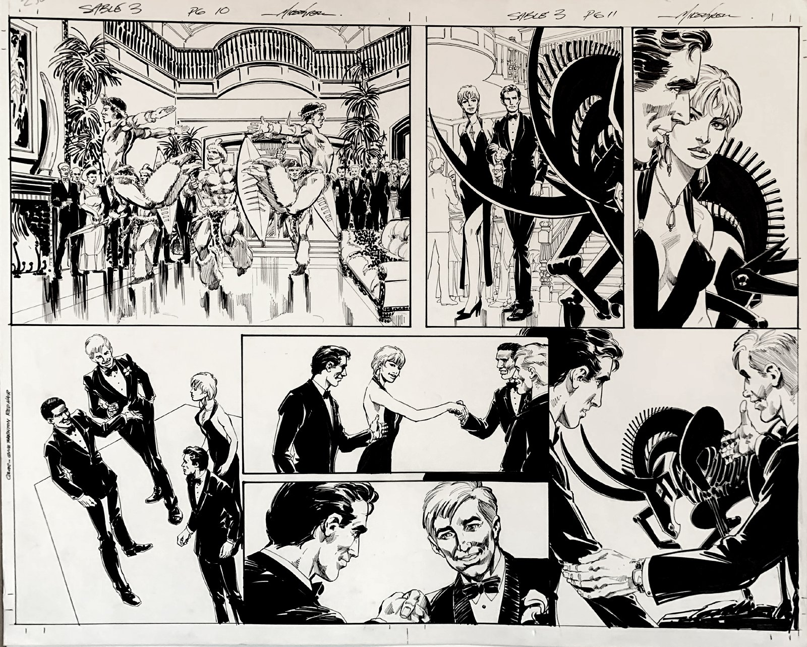 Jon Sable, Freelance: Bloodtrail #3 p 10-11 Huge Double Page Spread On 1 Large Board! (2005)