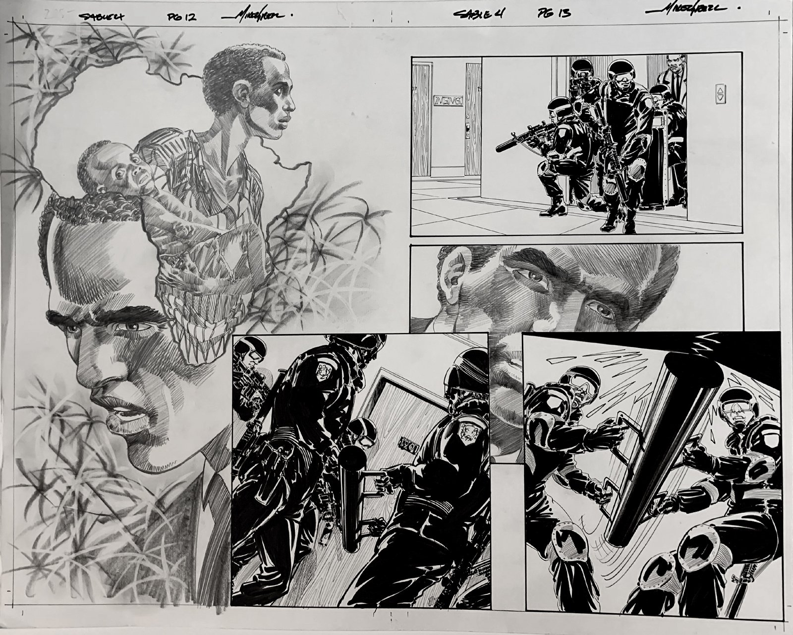 Jon Sable, Freelance: Bloodtrail #4 p 12-13 Huge Double Page Spread On 1 Large Board! (2005)