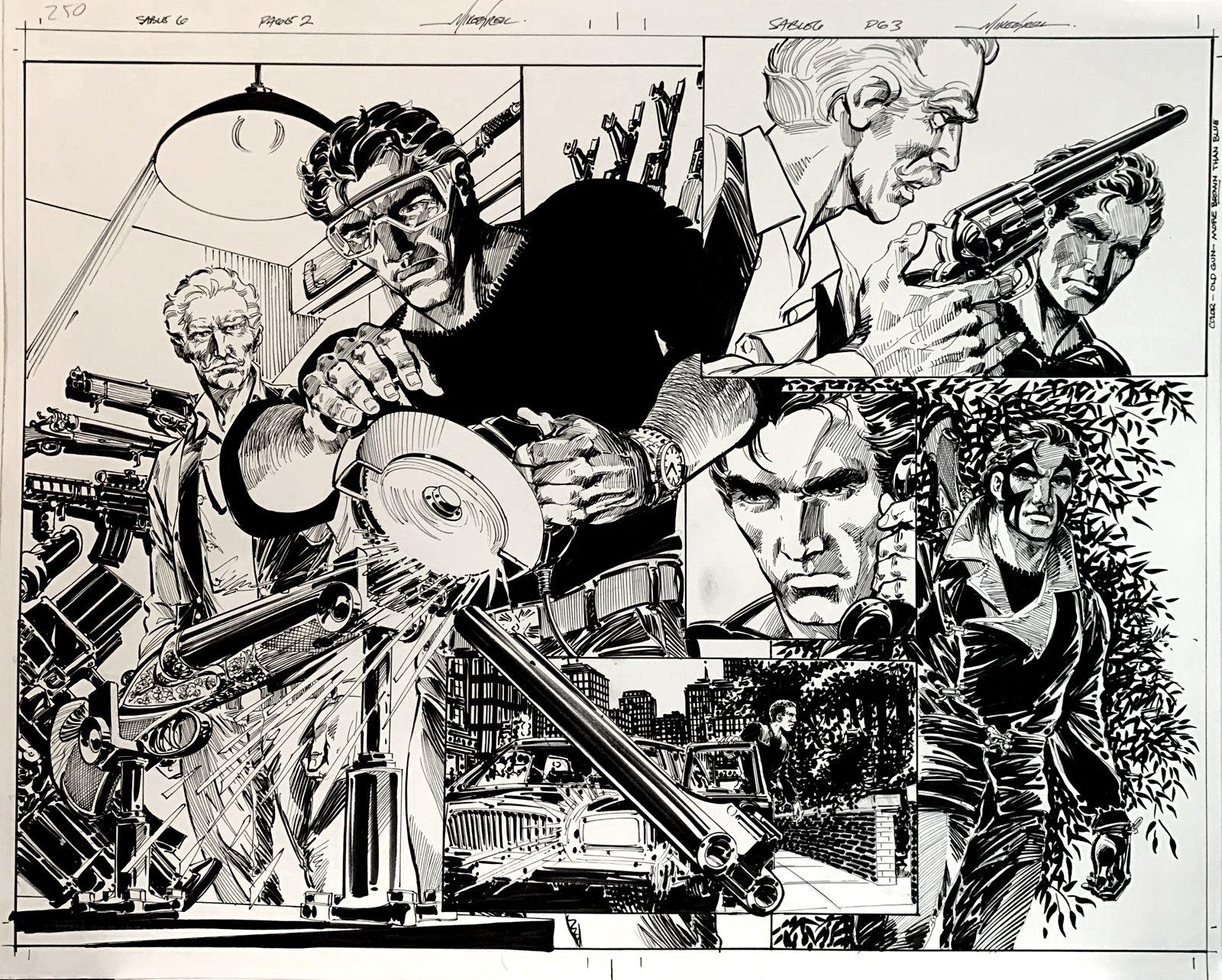 Jon Sable, Freelance: Bloodtrail #6 p 2-3 Huge Double Page Spread SPLASH On 1 Large Board! (2005)