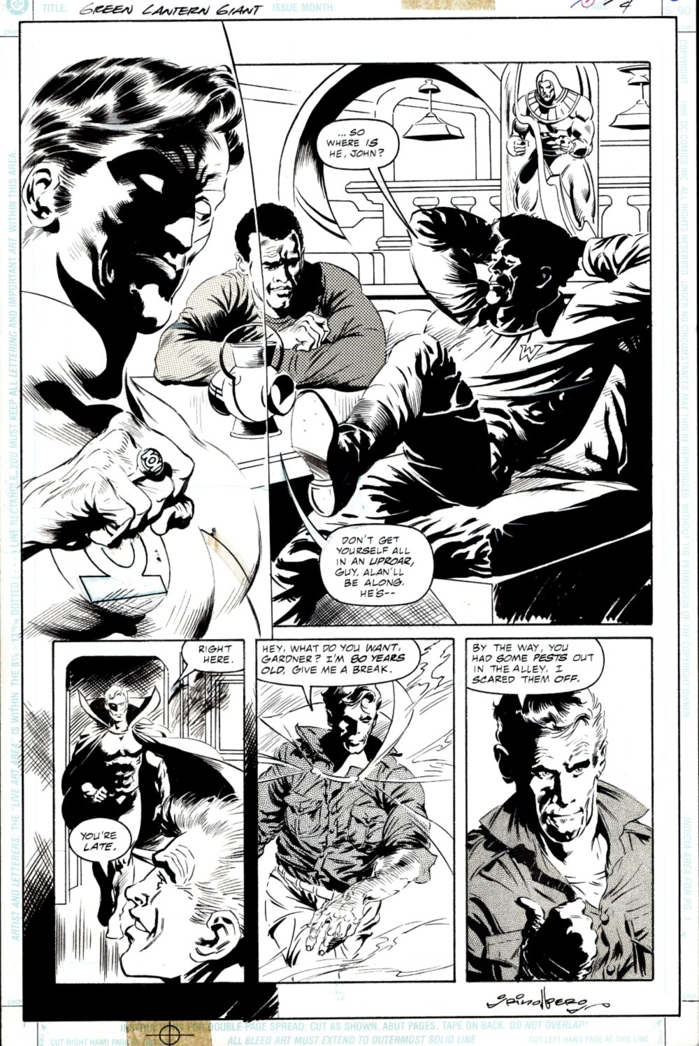 Green Lantern 80-Page Giant #1 p 4 (SOLD LIVE ON THE ROMITAMAN ART DROP PODCAST ON 10-9-2021