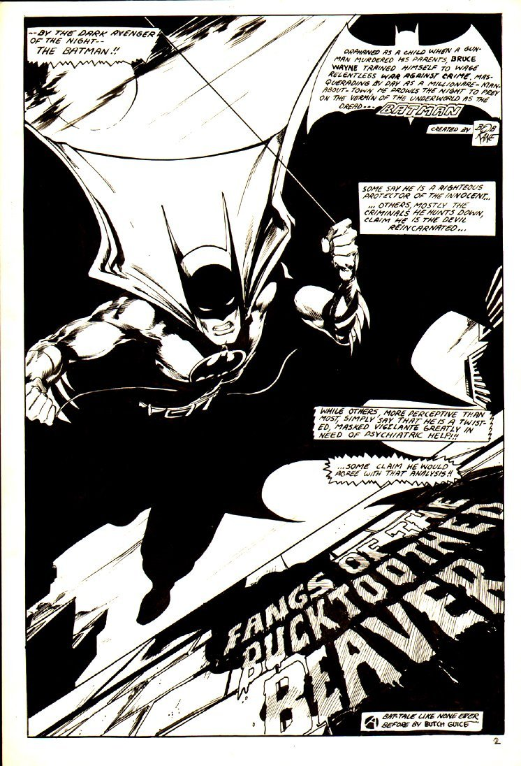 Batman/ Night Crawler 10 Page 1978 Commission Story