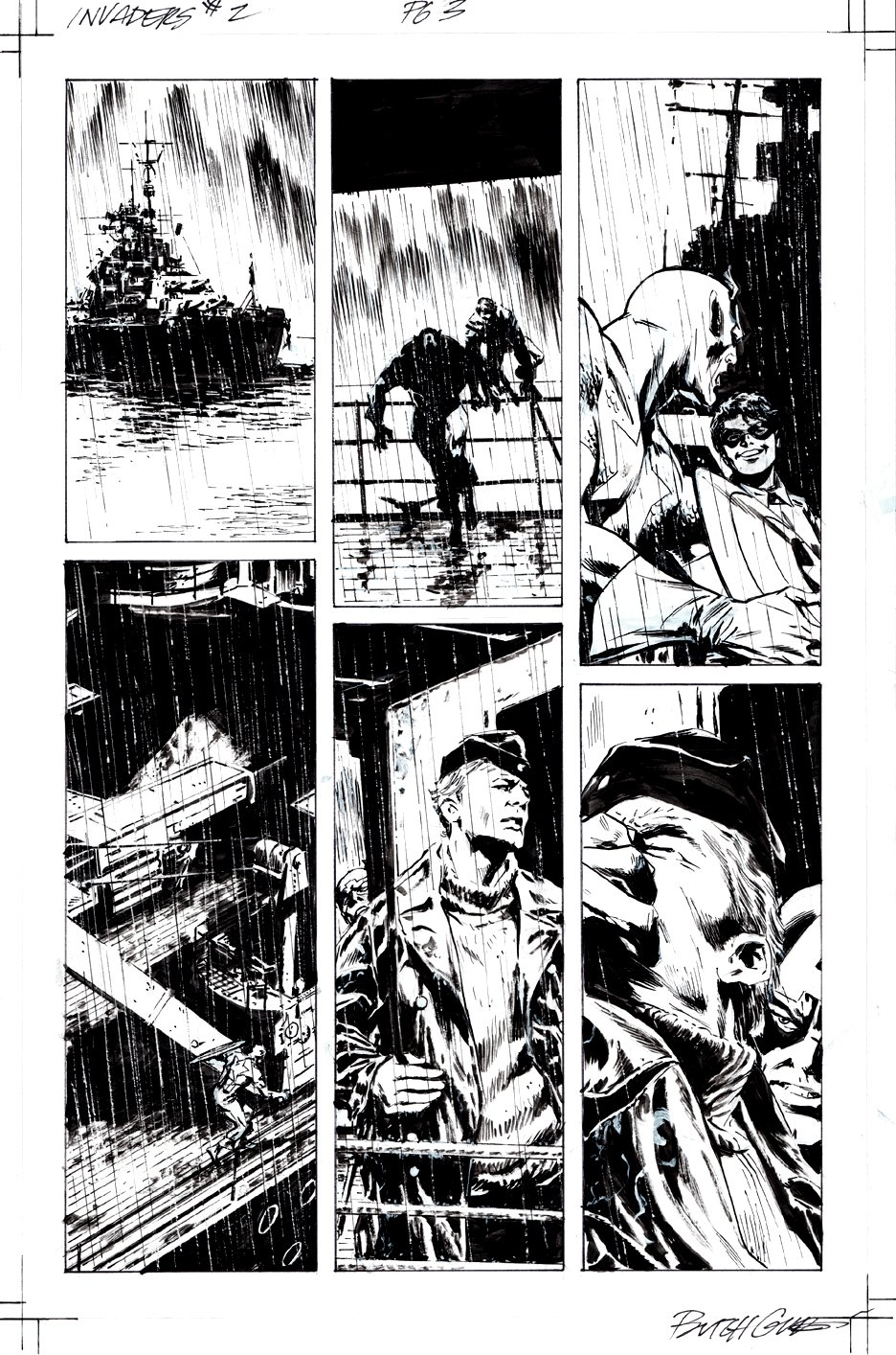 Invaders #2 p 3 (Cap & Bucky Take over a Ship!) 2018