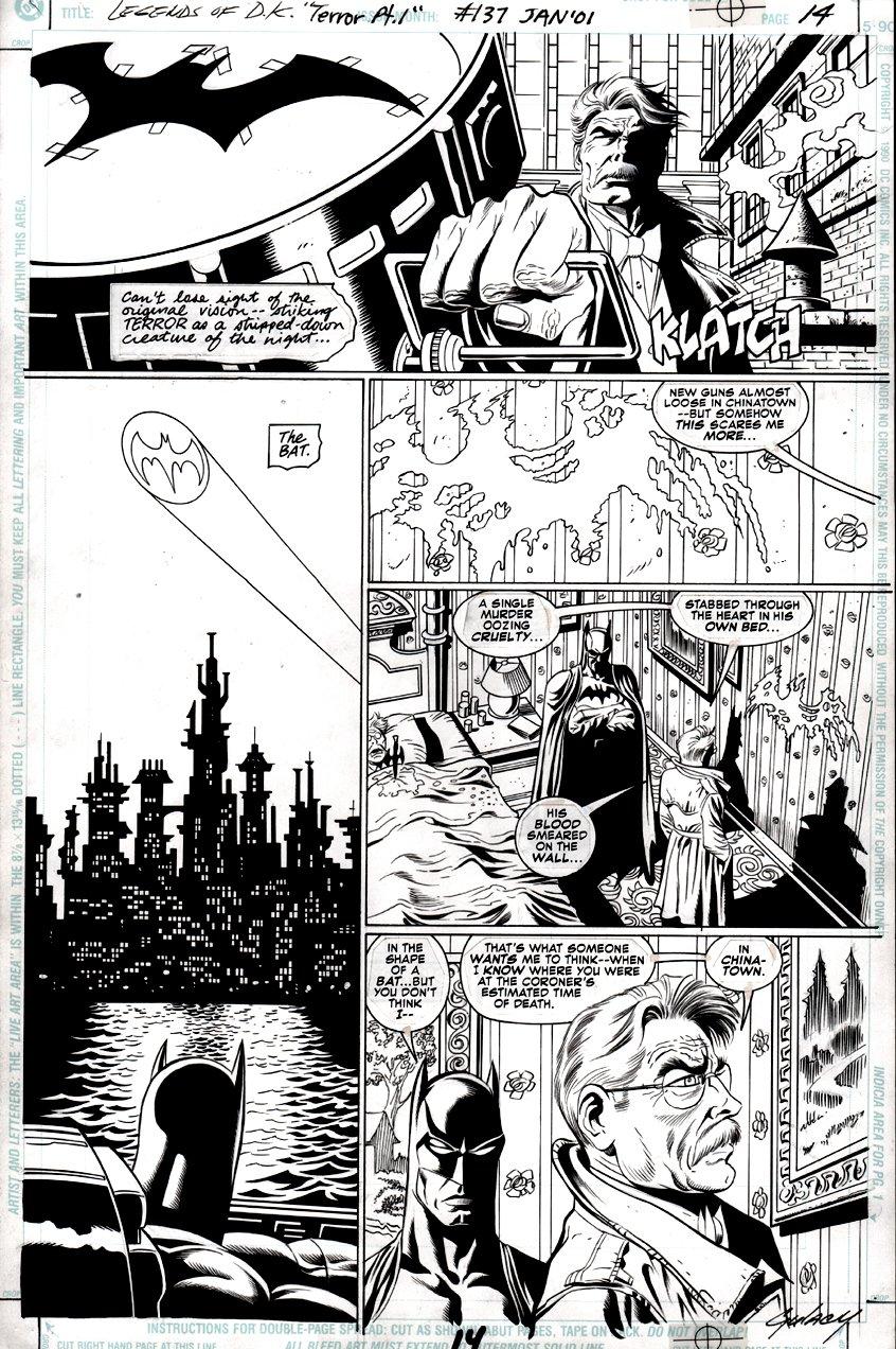Batman: Legends of the Dark Knight #137 p 14 (Batman, James Gordon, Bat-Signal!) 2000