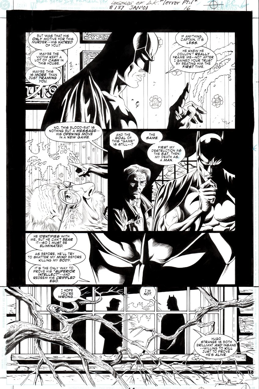 Batman: Legends of the Dark Knight #137 p 16 (Batman & James Gordon!) 2000