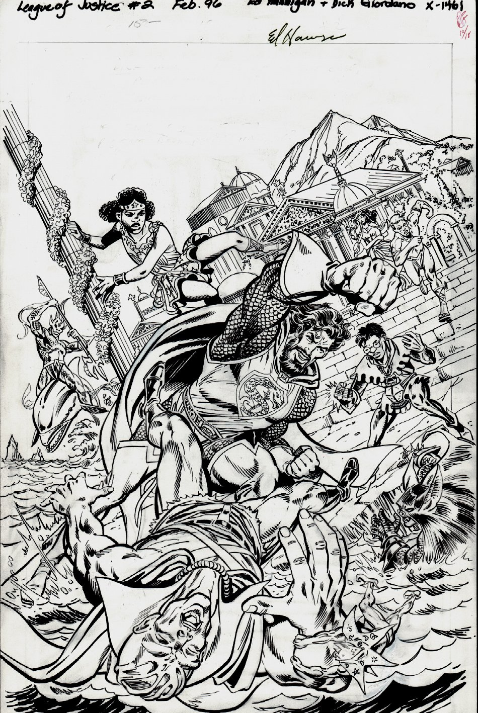 League of Justice #2 Cover (1996)