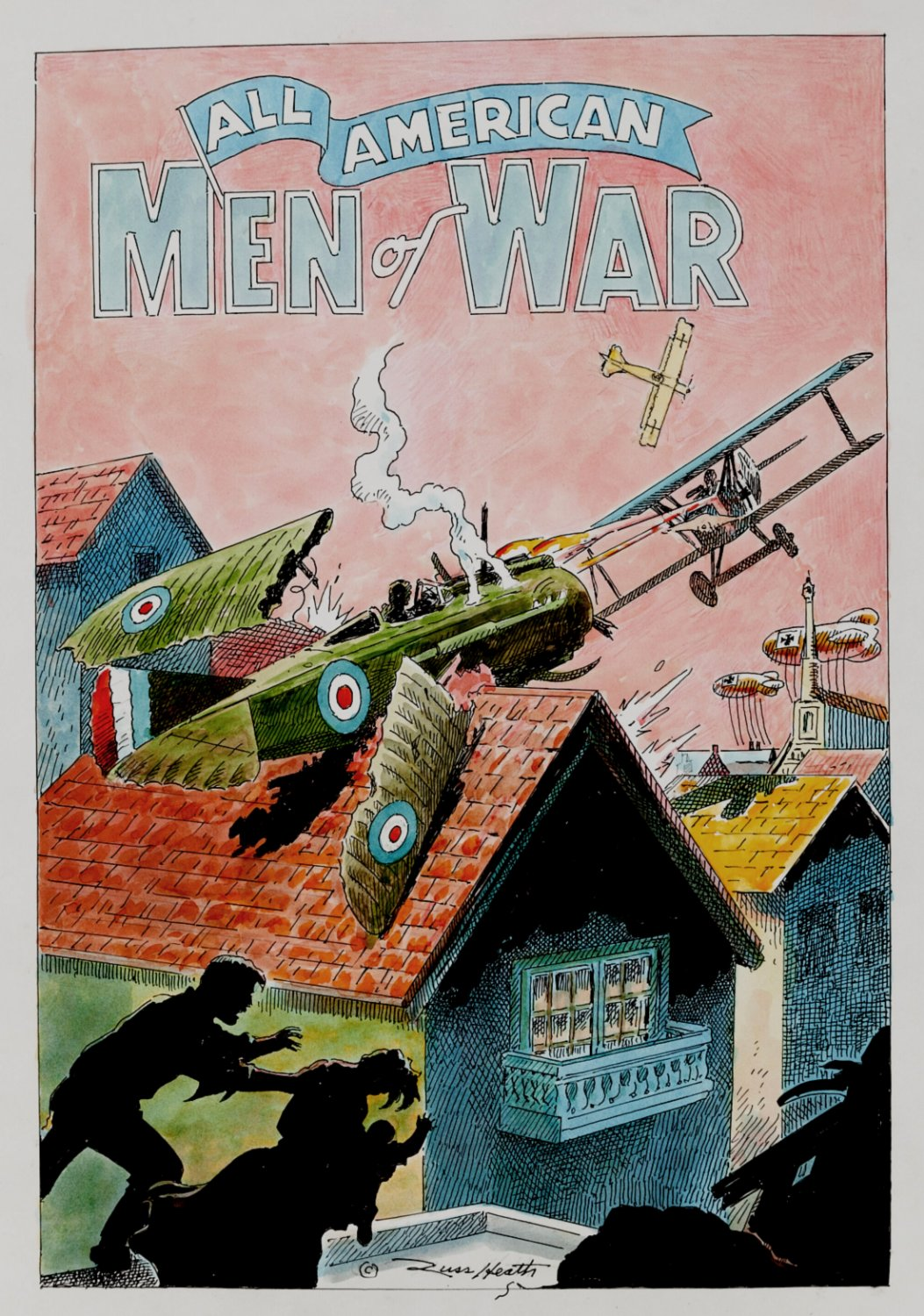 All-American Men of War NEW Cover Design (GREAT ACTION) 1993