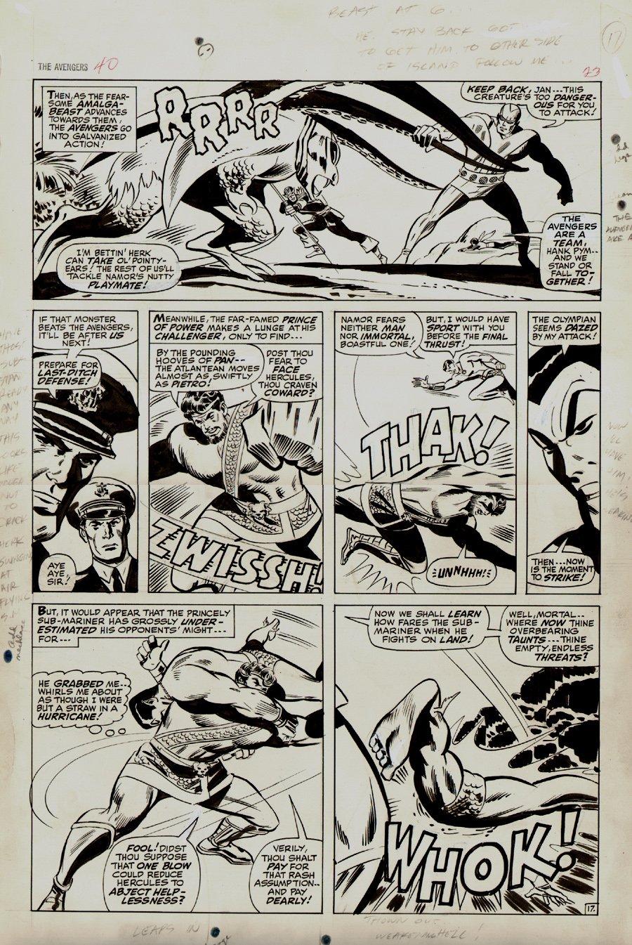 Avengers #40 p 17 (Large Art) 1967