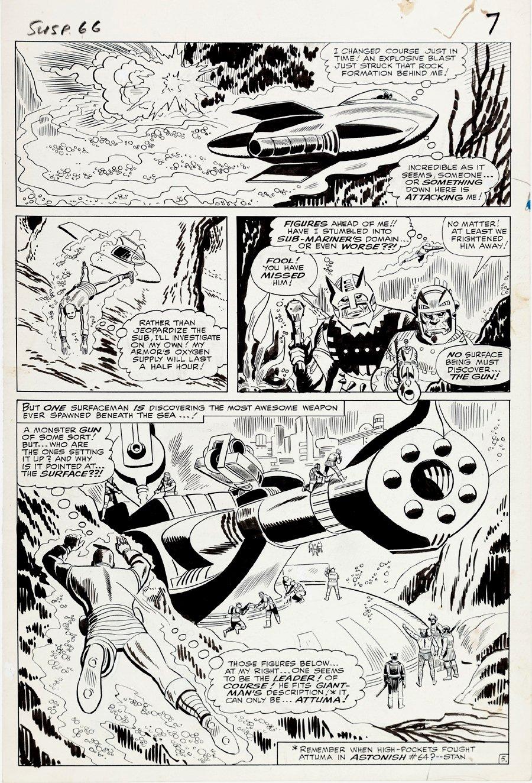 Tales of Suspense #66 p 5 Half SPLASH (Large Art) 1964