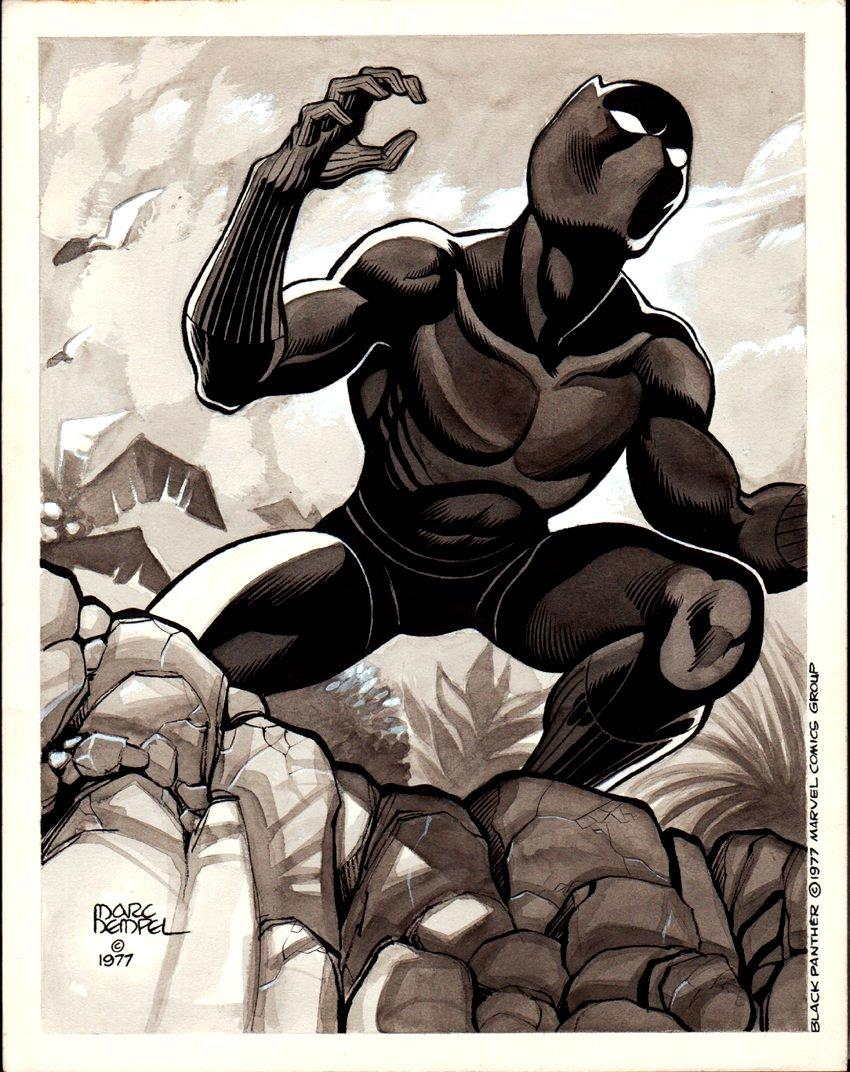 Black Panther Published Pinup (1977)
