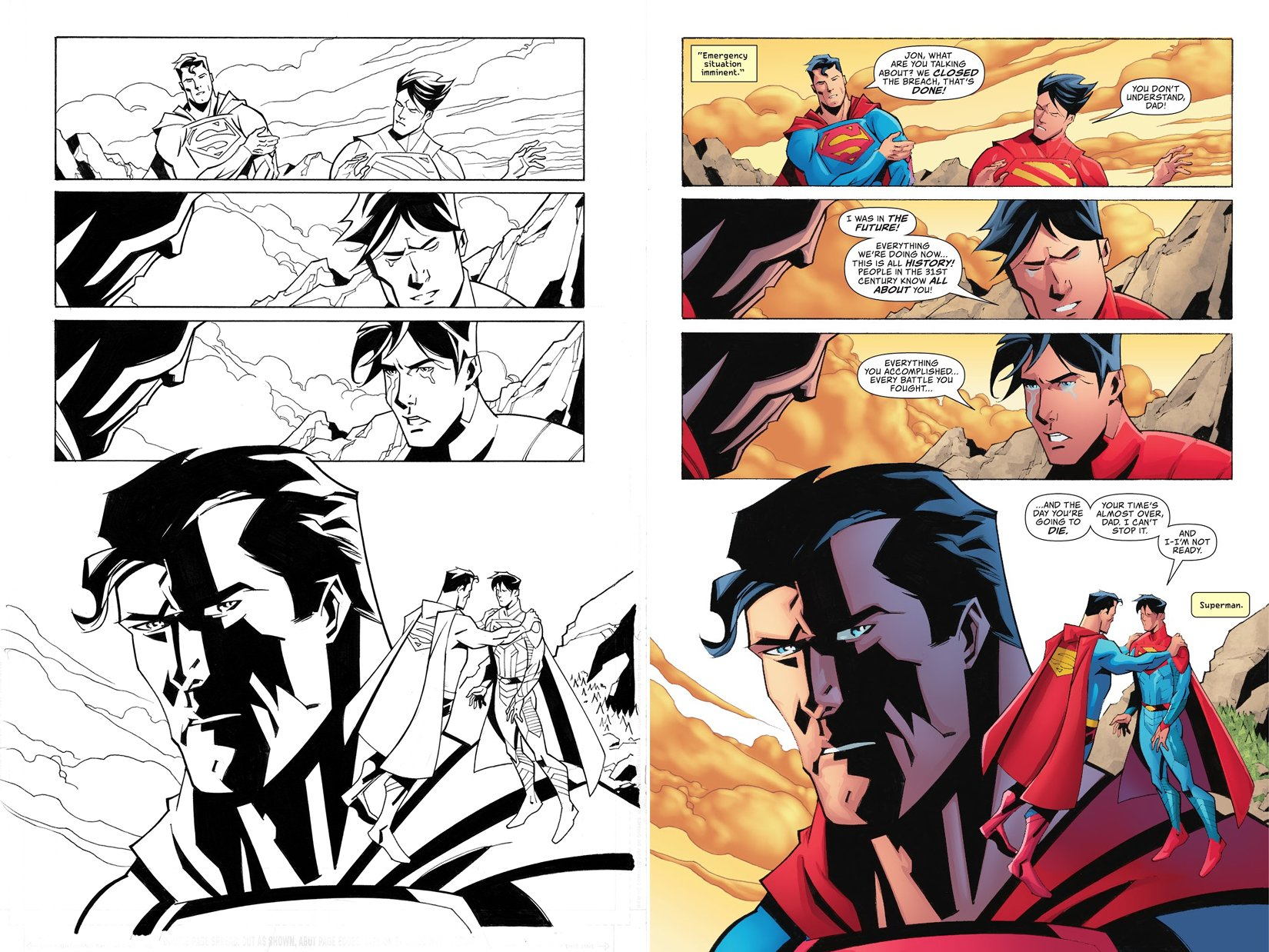 Superman #29 p 19 (SOLD LIVE ON 'DUELING DEALERS OF COMIC ART' EPISODE #33 PODCAST ON 8-25-2021(RE-WATCH THIS FUNNY ART SELLING SHOW HERE)