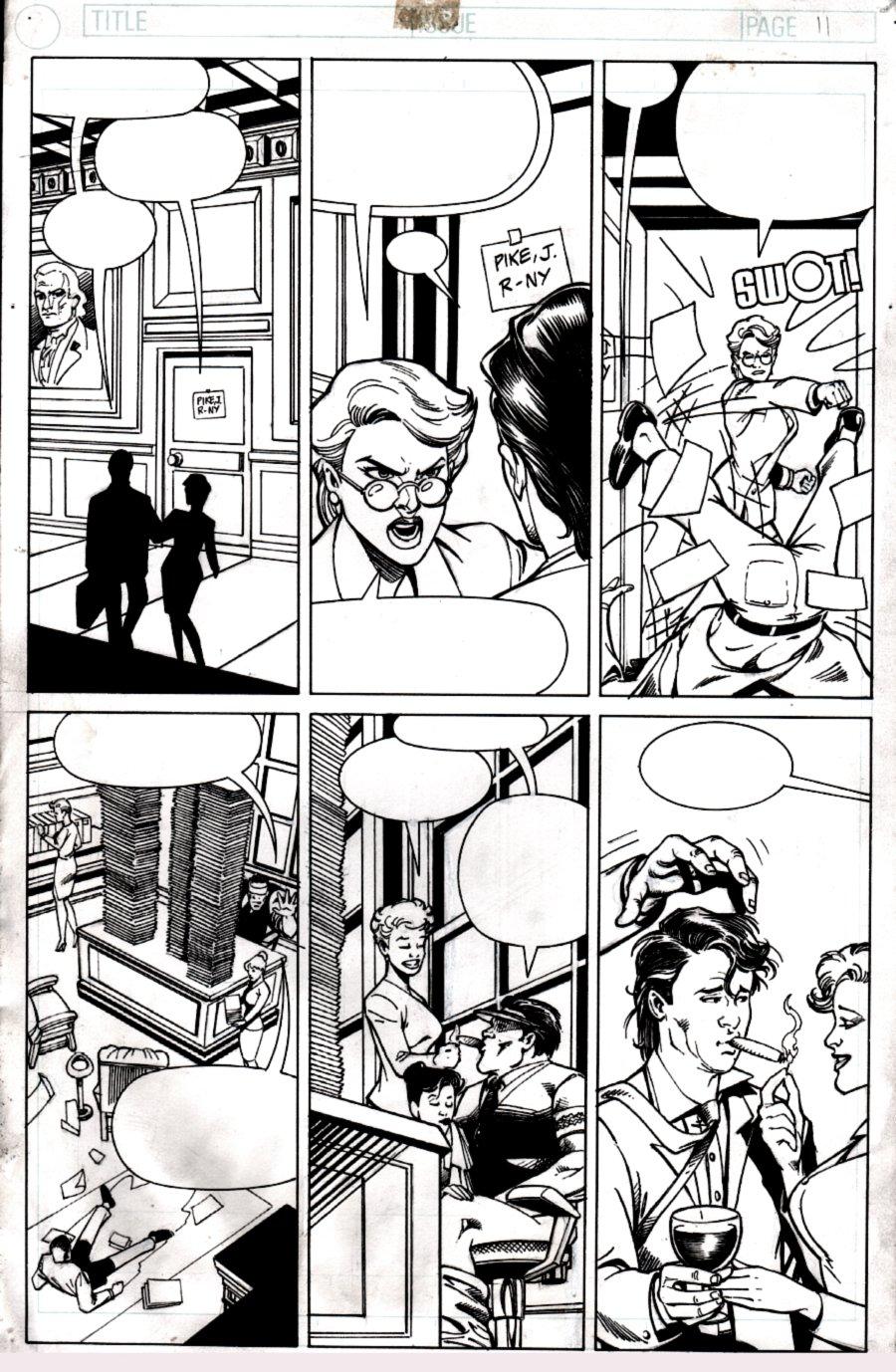 Penthouse Comix #5 p 13 (SEXY BABE PAGE!) 1995