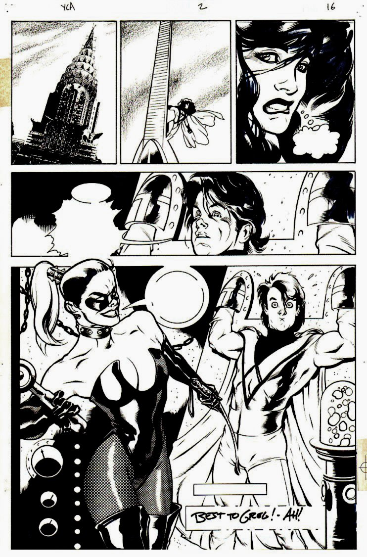 Penthouse Comix #2 p 16 (Half-Splash BONDAGE!) 1994