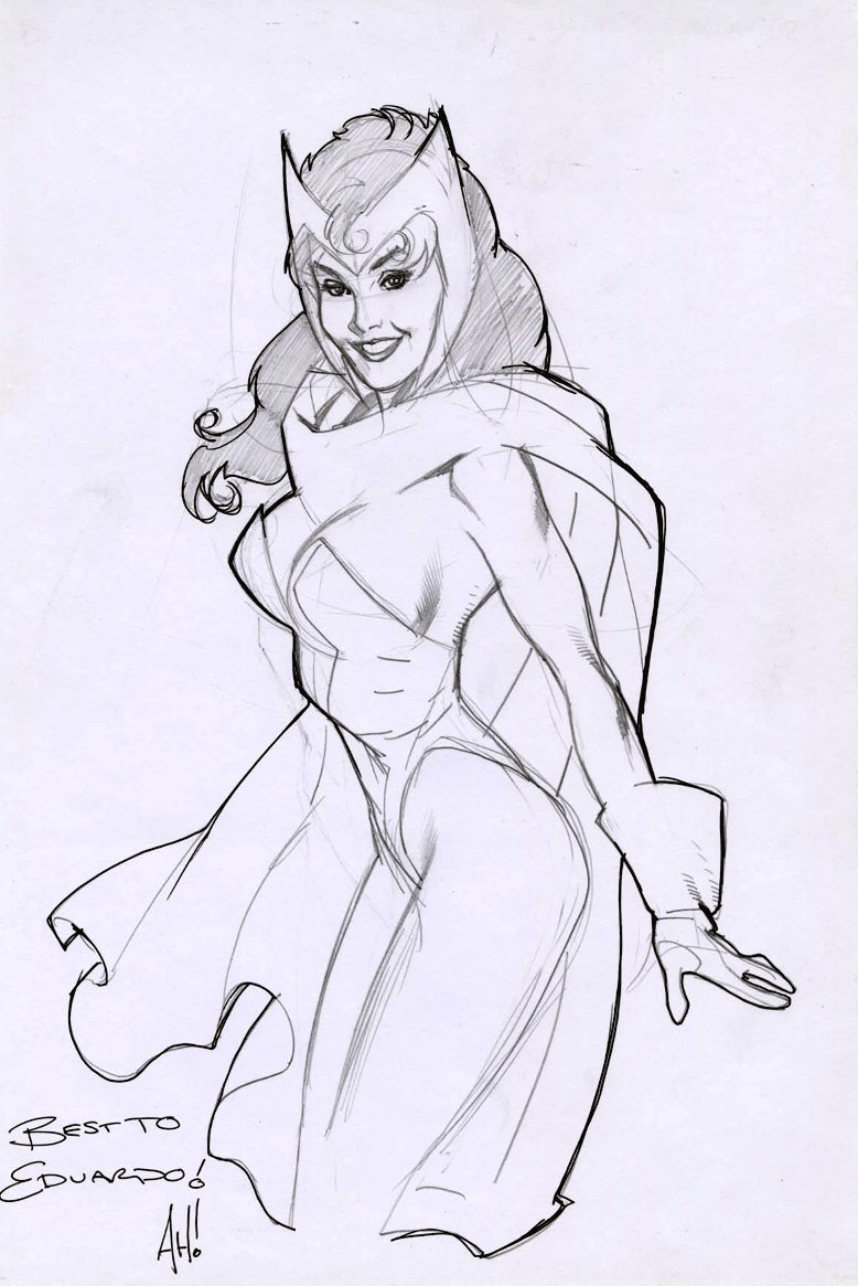 Scarlet Witch Pinup