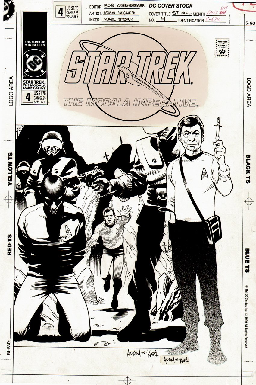 Star Trek - The Modala Imperative #4 Cover (1991)