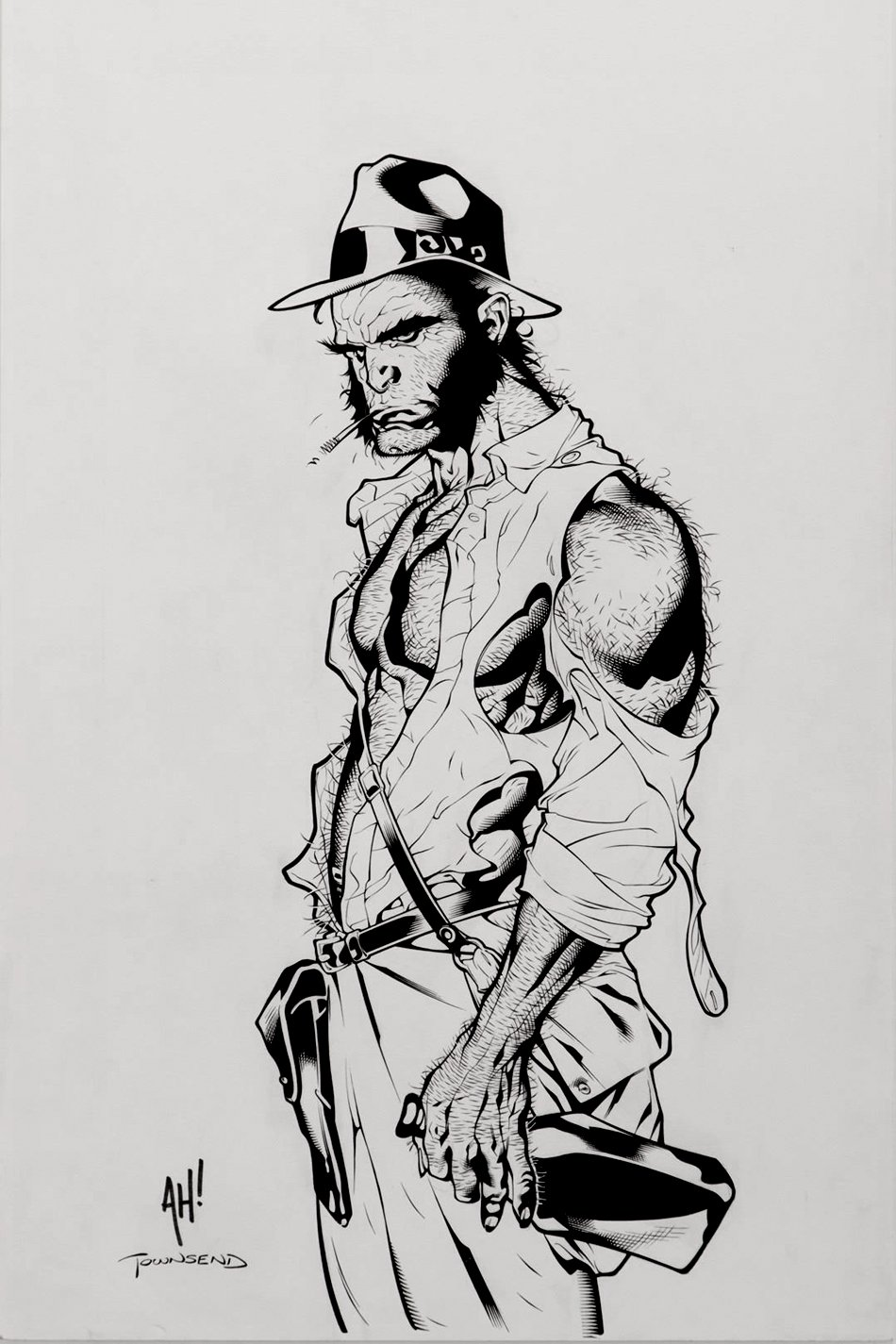 Wolverine (As Indiana Jones) Detailed Pinup!