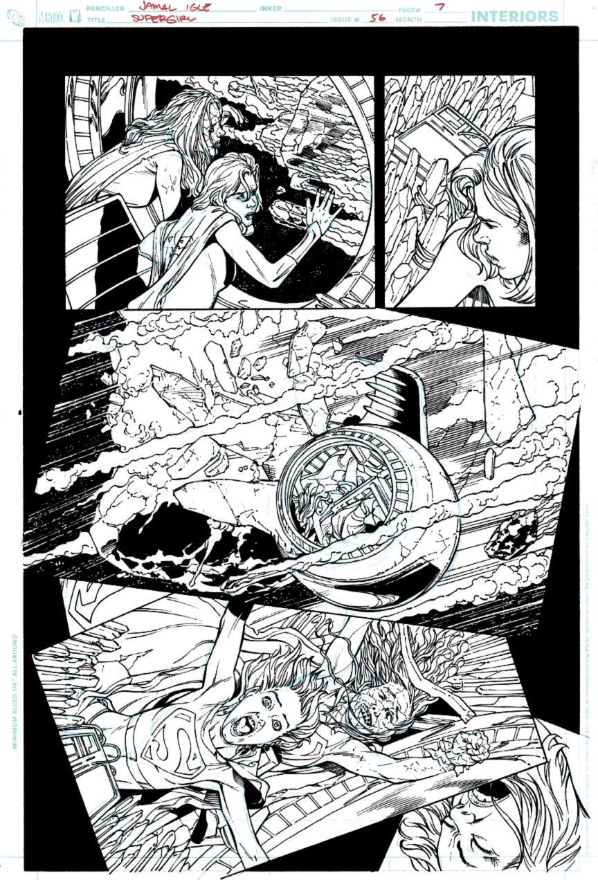 Supergirl #56 p 7 (Supergirl & Bizarrogirl!) 2010