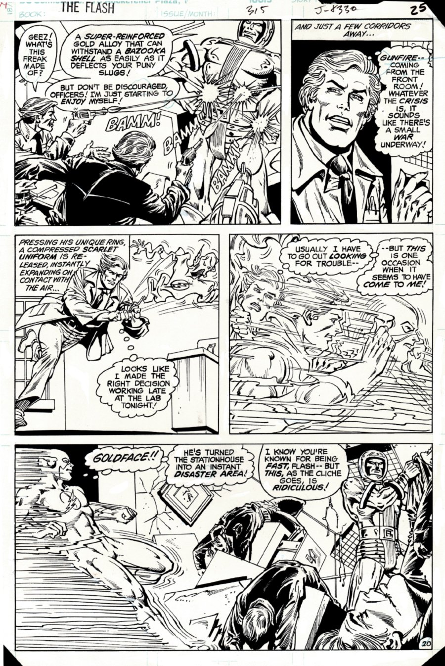 The Flash #315 p 20 (SOLD LIVE ON 'DUELING DEALERS OF COMIC ART' EPISODE #31 PODCAST ON 8-14-2021(RE-WATCH THIS FUNNY ART SELLING SHOW HERE)