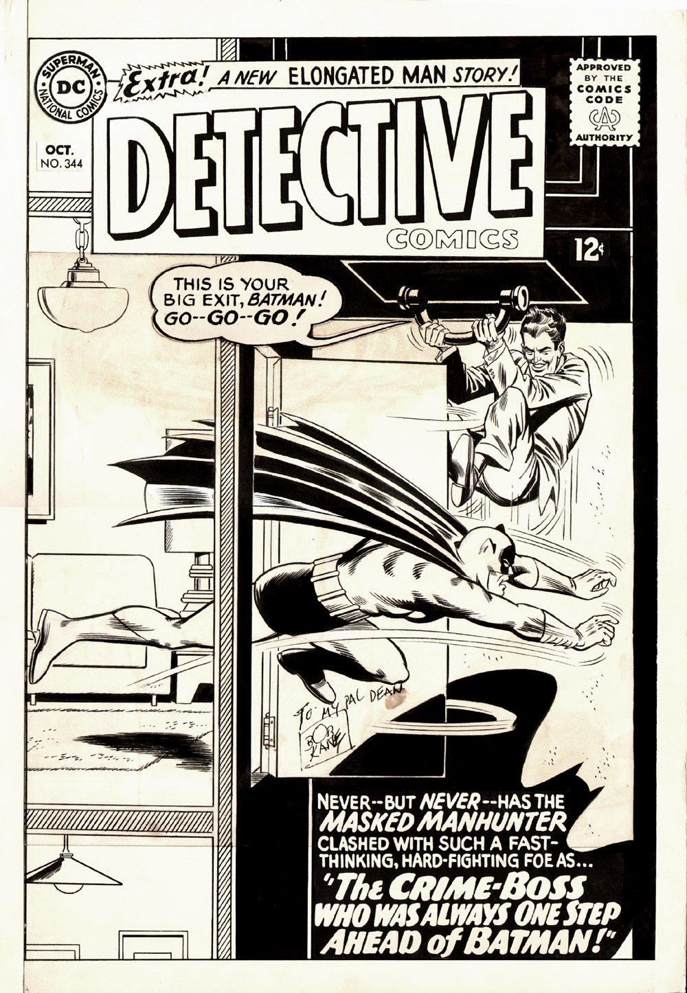 Detective Comics #344 Cover (Large Art) 1965