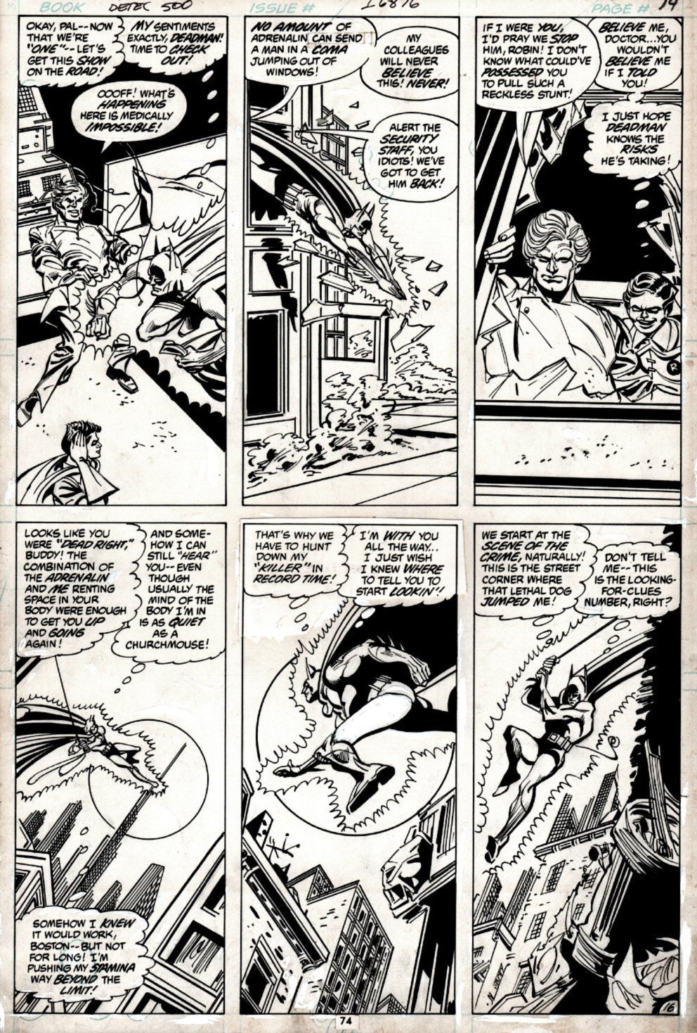 Detective Comics #500 p 16 (DEADMAN IN BATMAN'S BODY IN 5 OF 6 PANELS!) 1980