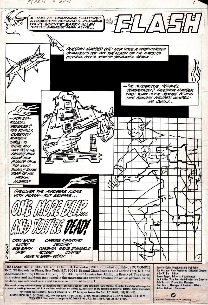 Flash #304 p 1 SPLASH (1981)
