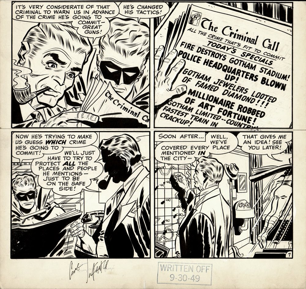 Green Lantern Golden Age 2/3rd Page (1948)