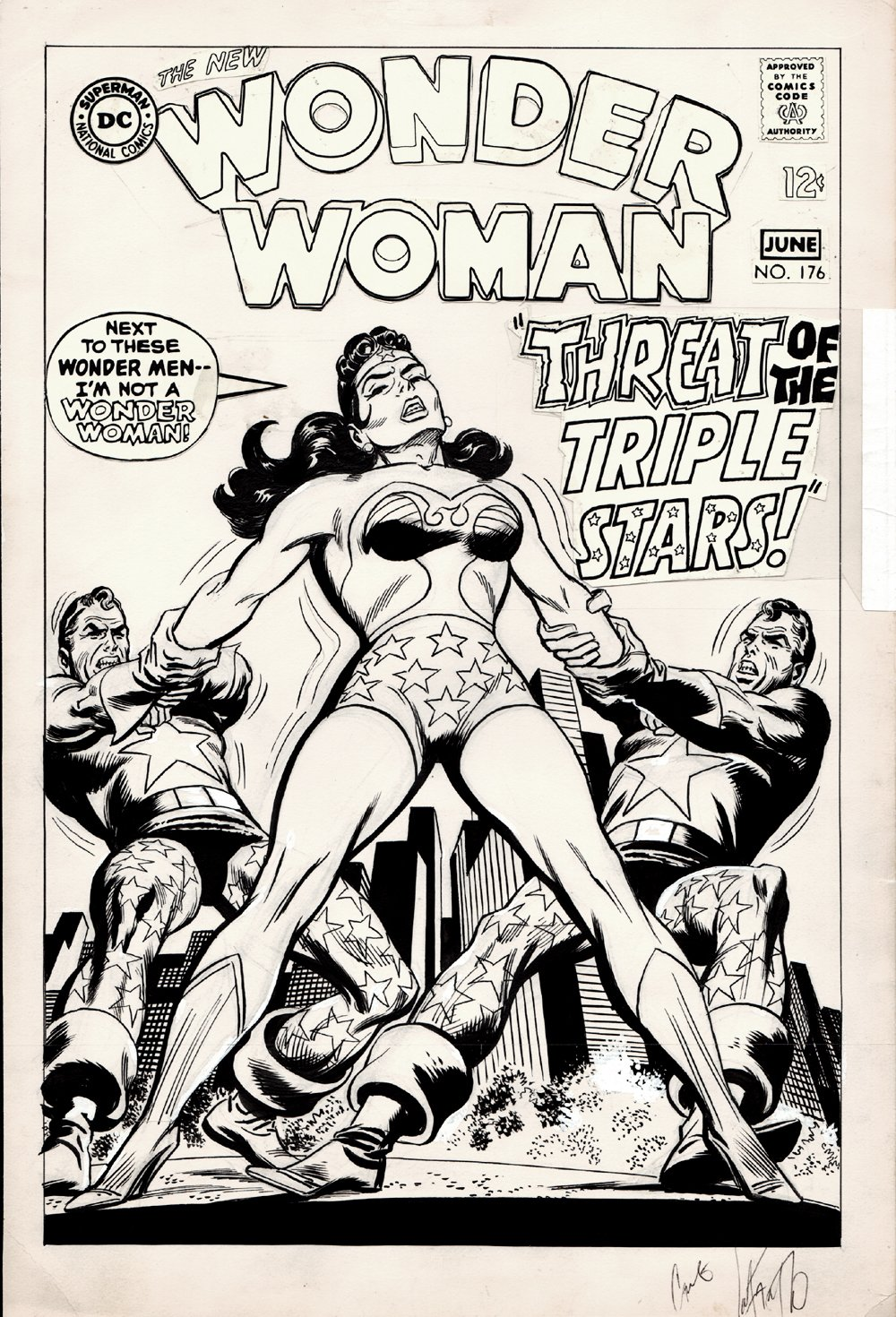 Wonder Woman #176 Unused Cover (1968)