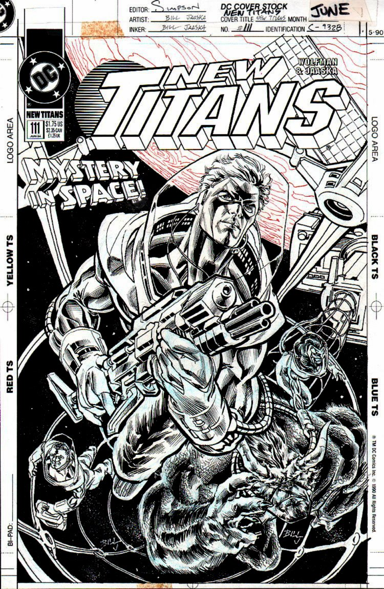 New Titans #111 Cover (Arsenal, Changeling, Pantha, Baby Wildebeest) 1994