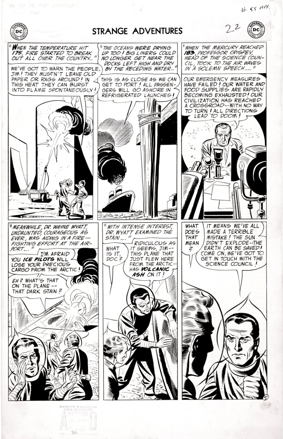 Strange Adventures #55 (Large Art Science Fiction Page!) 1954