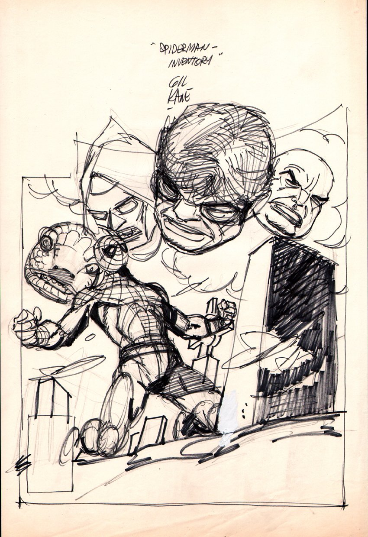 Amazing Spider-Man #181 Full Size Cover Prelim (1978)