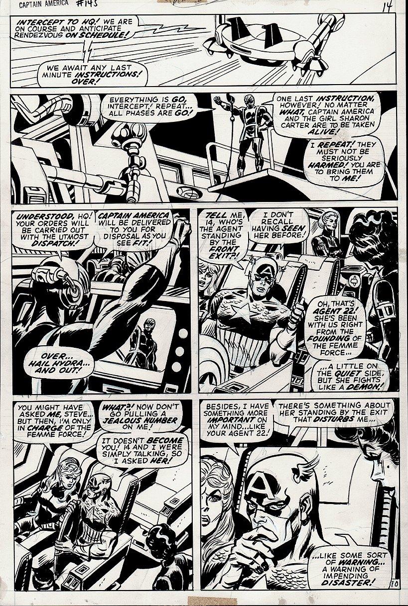 Captain America #145 p 10 (Captain America, Agent 13 [Sharon Carter] & Valentina de la Fontaine!) 1971