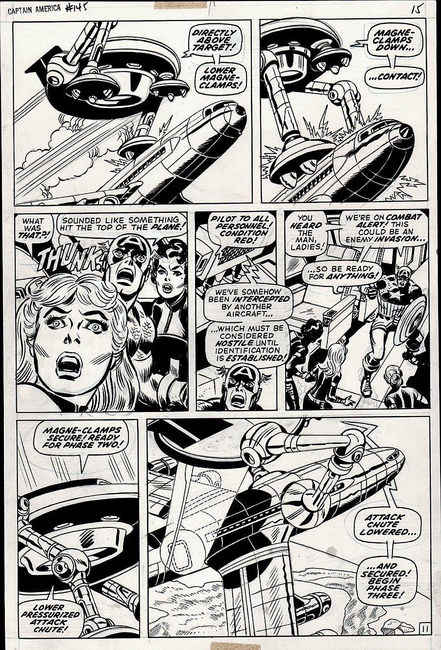Captain America #145 p 11 (Captain America, Agent 13 [Sharon Carter] Valentina de la Fontaine!) 1971