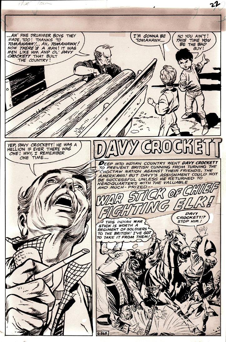 DC Special #6 p 22 (Davy Crockett Story!) 1969)
