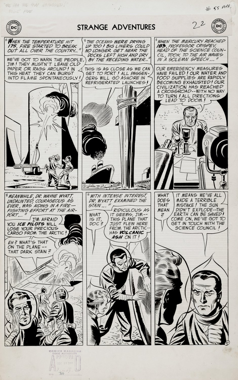 Strange Adventures #55 p 5 (Large Art Science Fiction Page!) 1954