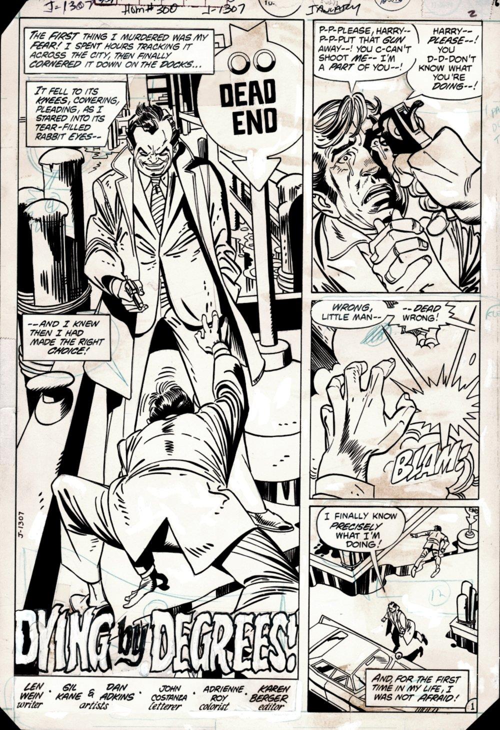 House of Mystery #300 p 1 SPLASH (MAN MURDERS HIS FEAR!) 1971