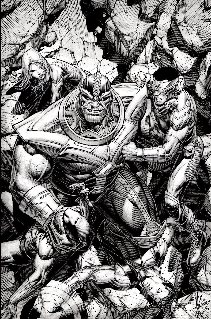Avengers #40 Cover (THANOS DESTROYS THE AVENGERS!) 2014