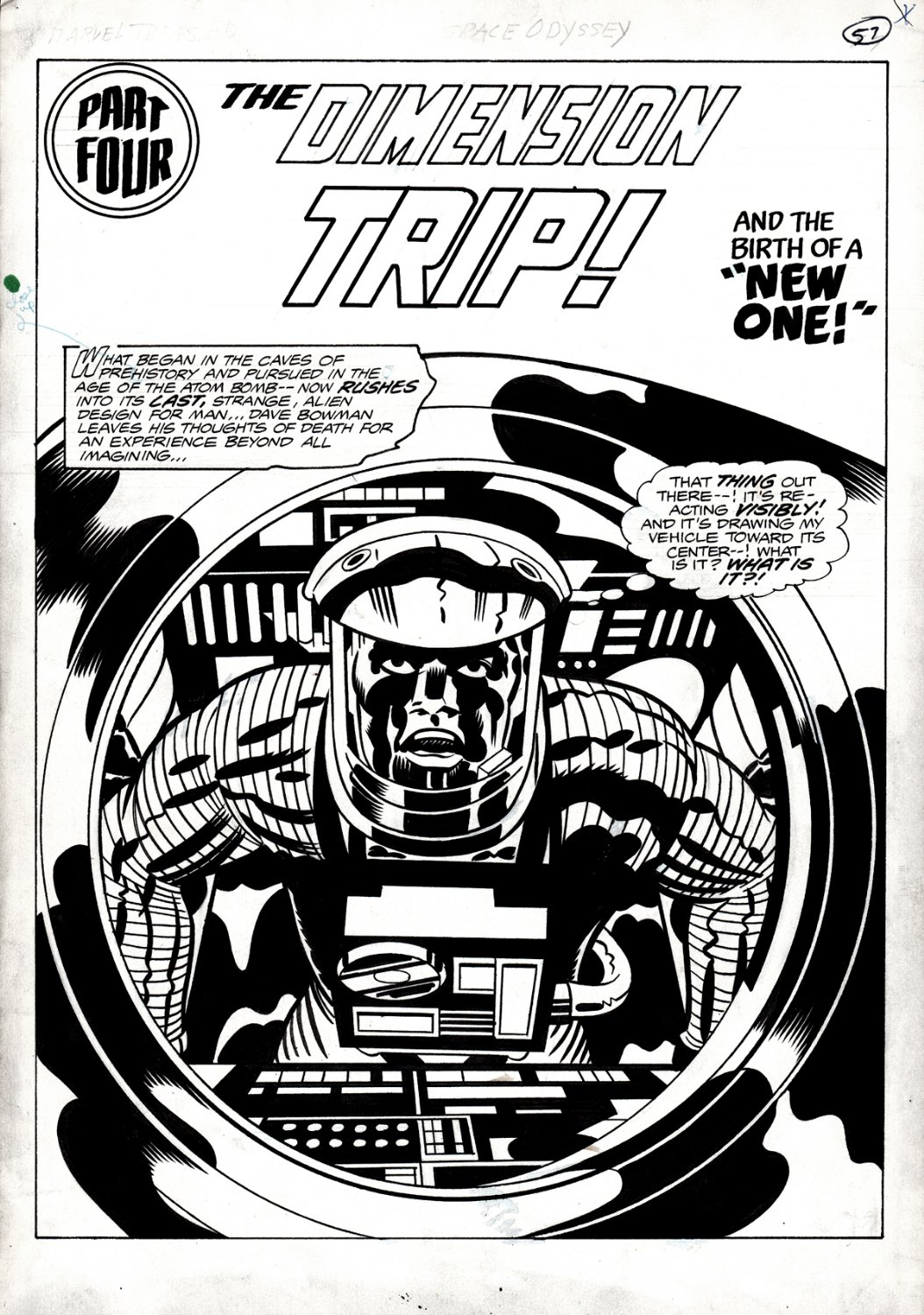 2001: A Space Odyssey #1 CHAPTER 4 CLASSIC MOVIE TREASURY SPLASH (1976)
