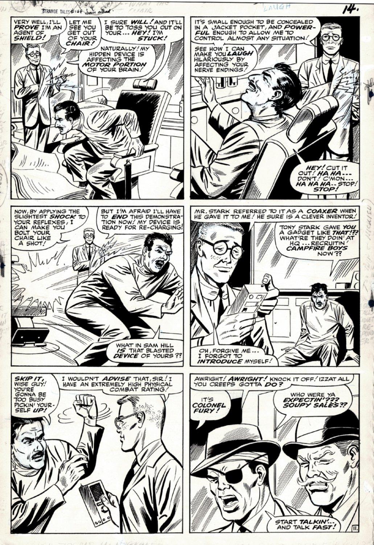Strange Tales #144 p 11 (FIRST JASPER SITWELL, FURY, DUM DUM!) 1965
