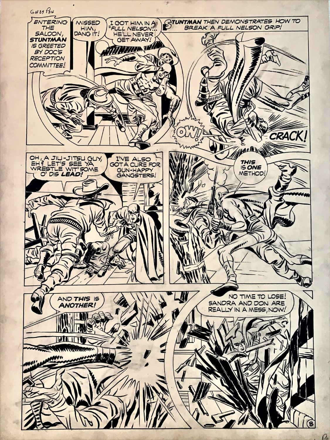 Stuntman #3 p 8 (Large Art) 1946