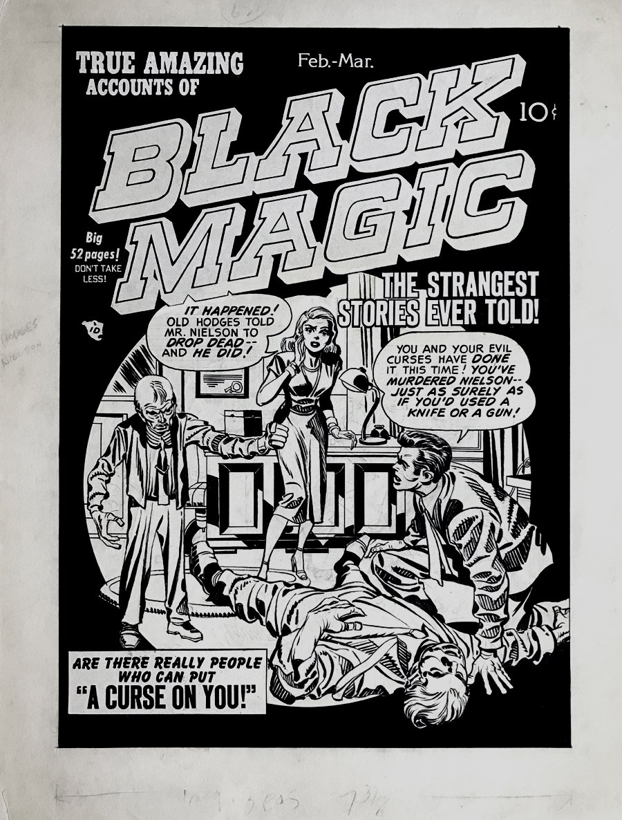 Black Magic #3 'Golden Age' Cover (Large Art) 1950