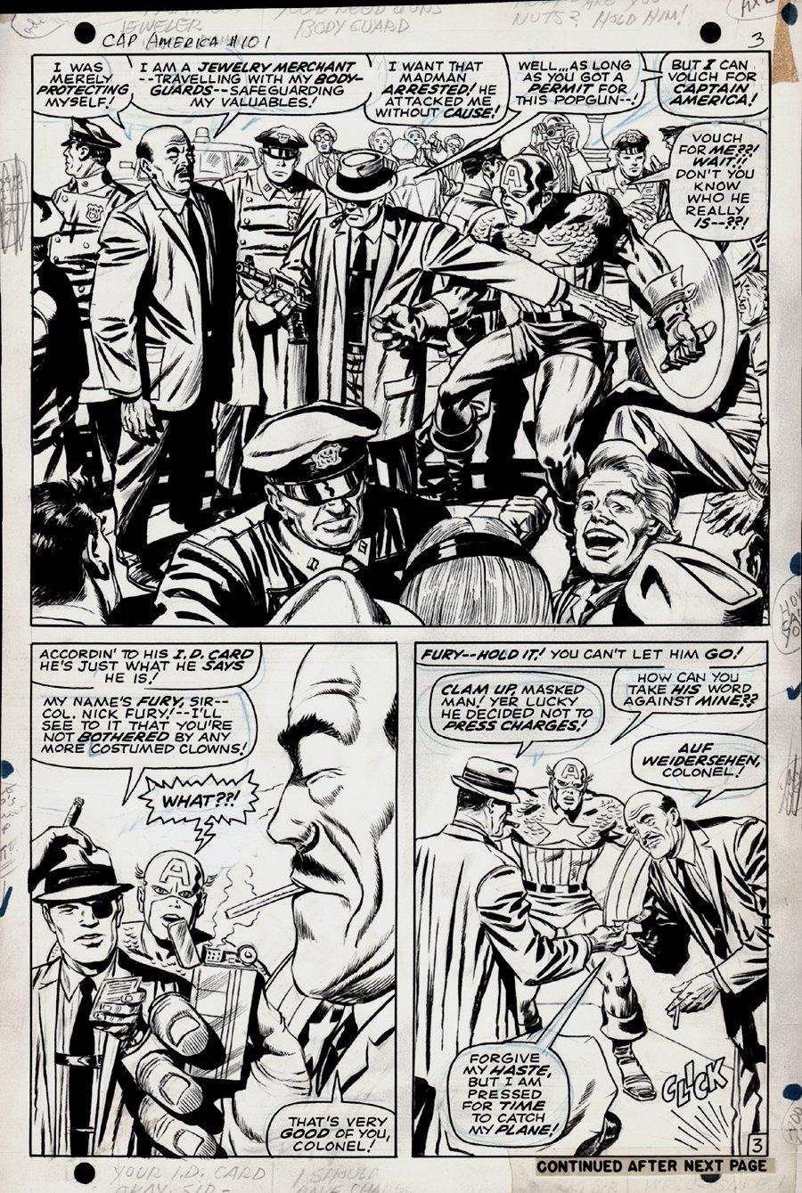 Captain America #101 p 3 Half SPLASH (1967)