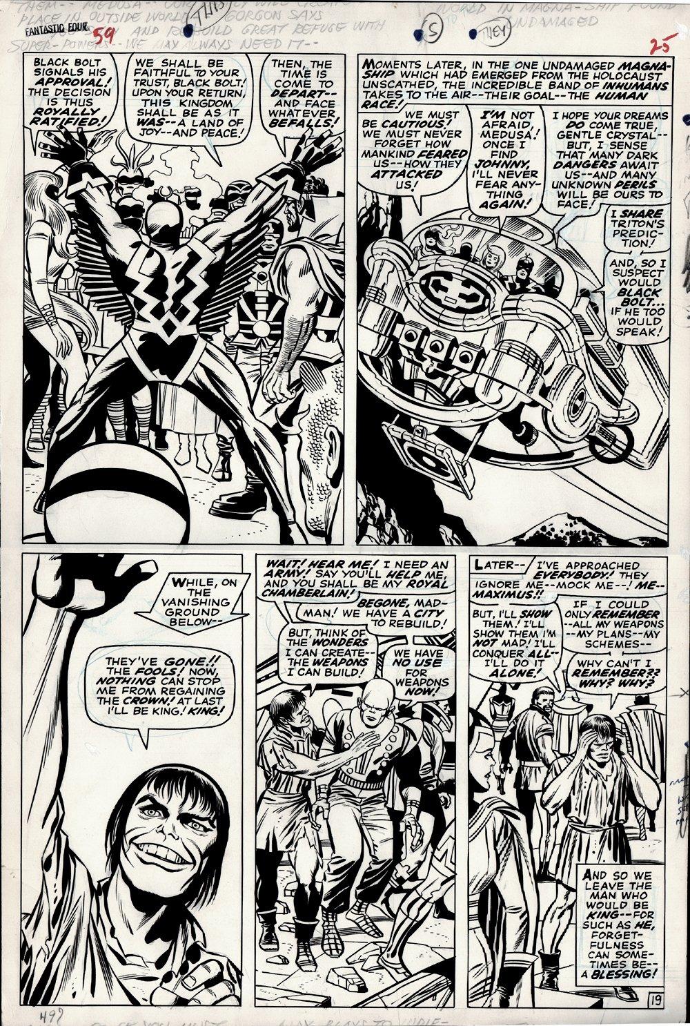 Fantastic Four #59 p 19 (Large Art) 1966