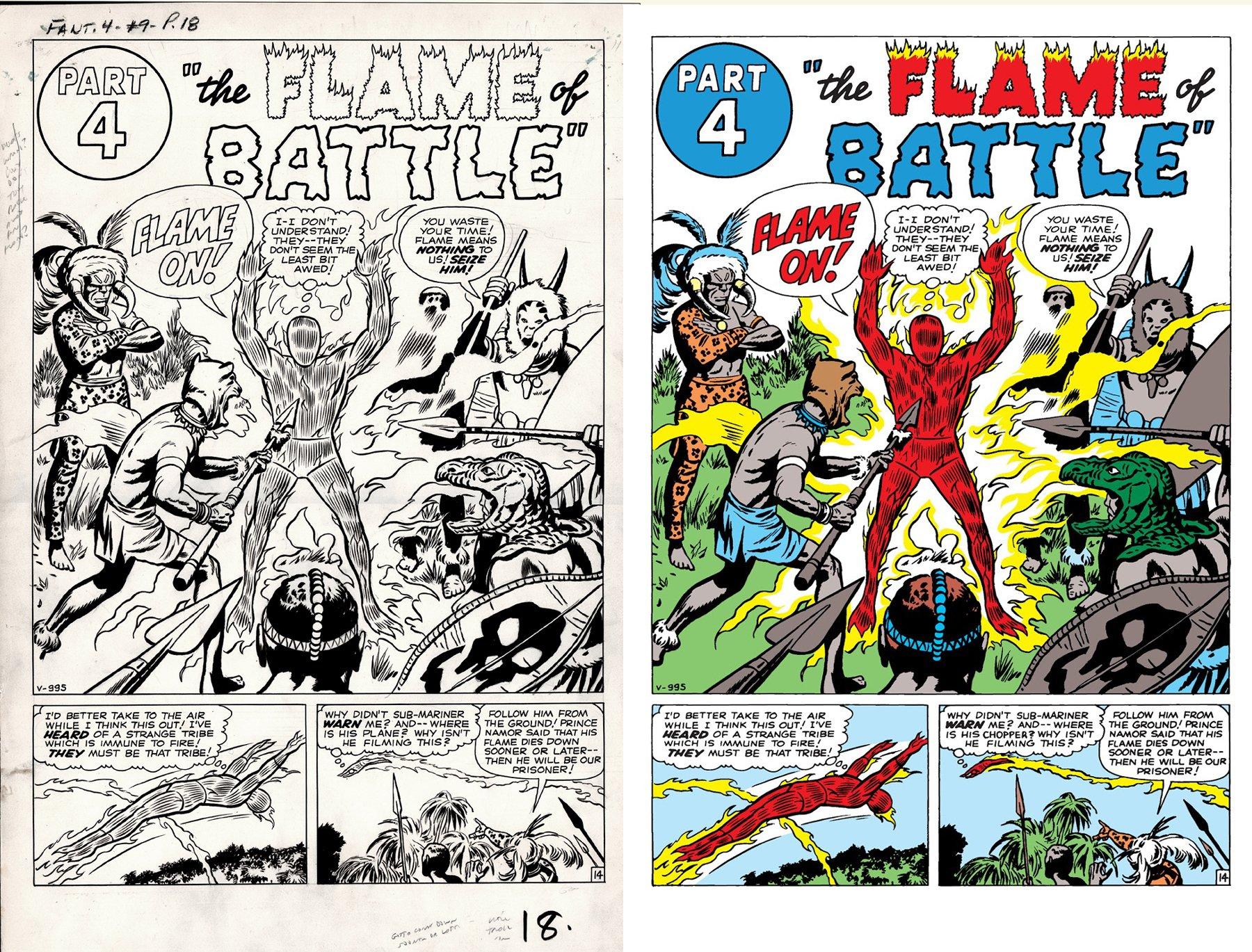 Fantastic Four #9 p 14 SPLASH (1ST YEAR FF SPLASH!) LARGE ART -1962