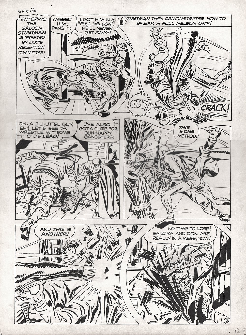 Stuntman #3 p 8 (Large Art) 1946
