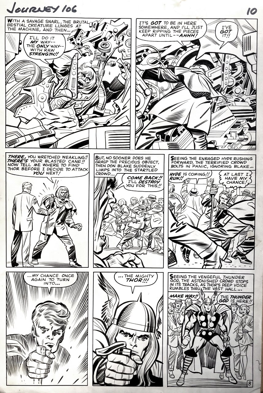 Journey Into Mystery #106 p 8 (THOR & MR. HYDE!) 1964