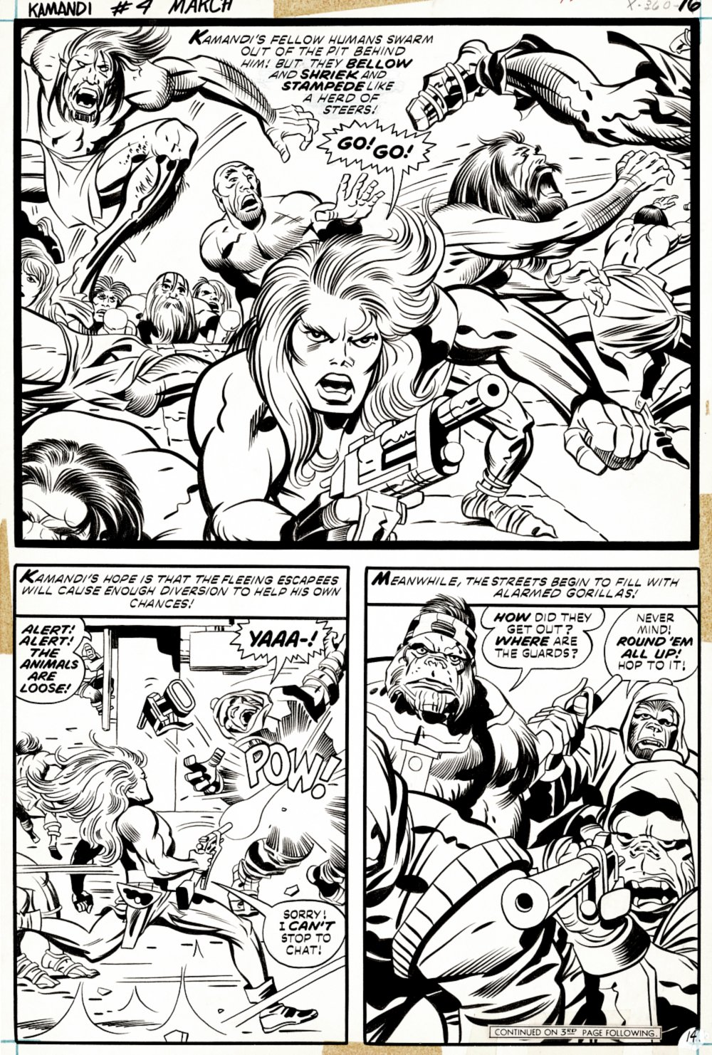 Kamandi #4 p 14 Semi-Splash (AWESOME EARLY KAMANDI SEMI-SPLASH BATTLE!) 1972
