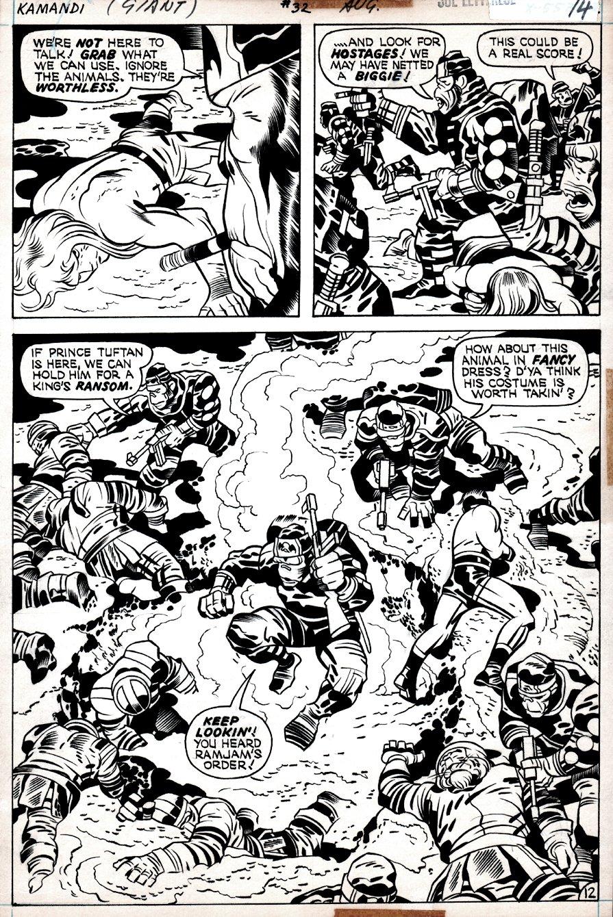 Kamandi #32 p 12 SPLASH  (Kamandi, Beast-Men, Captured By The Gorilla Commandos!) 1975