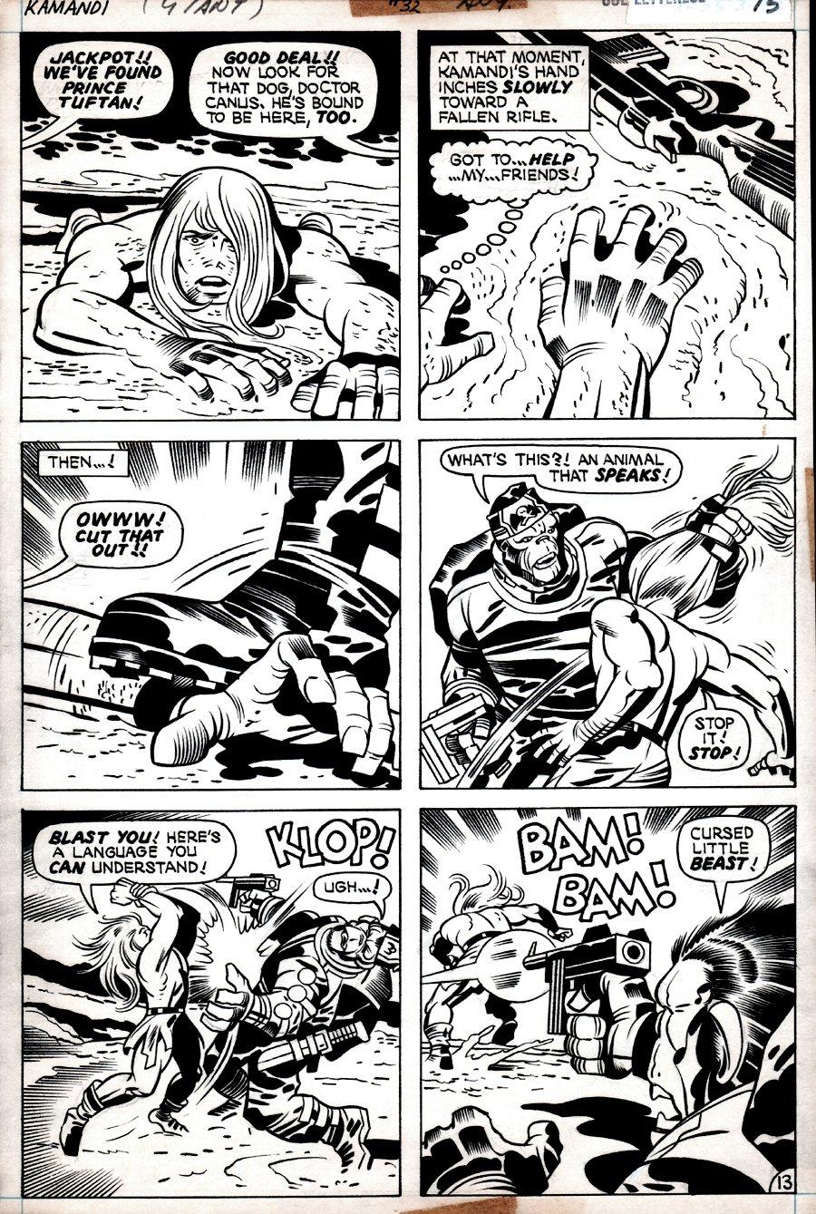 Kamandi #32 p 13 (KAMANDI BATTLES GORILLA COMMANDOS!) 1975