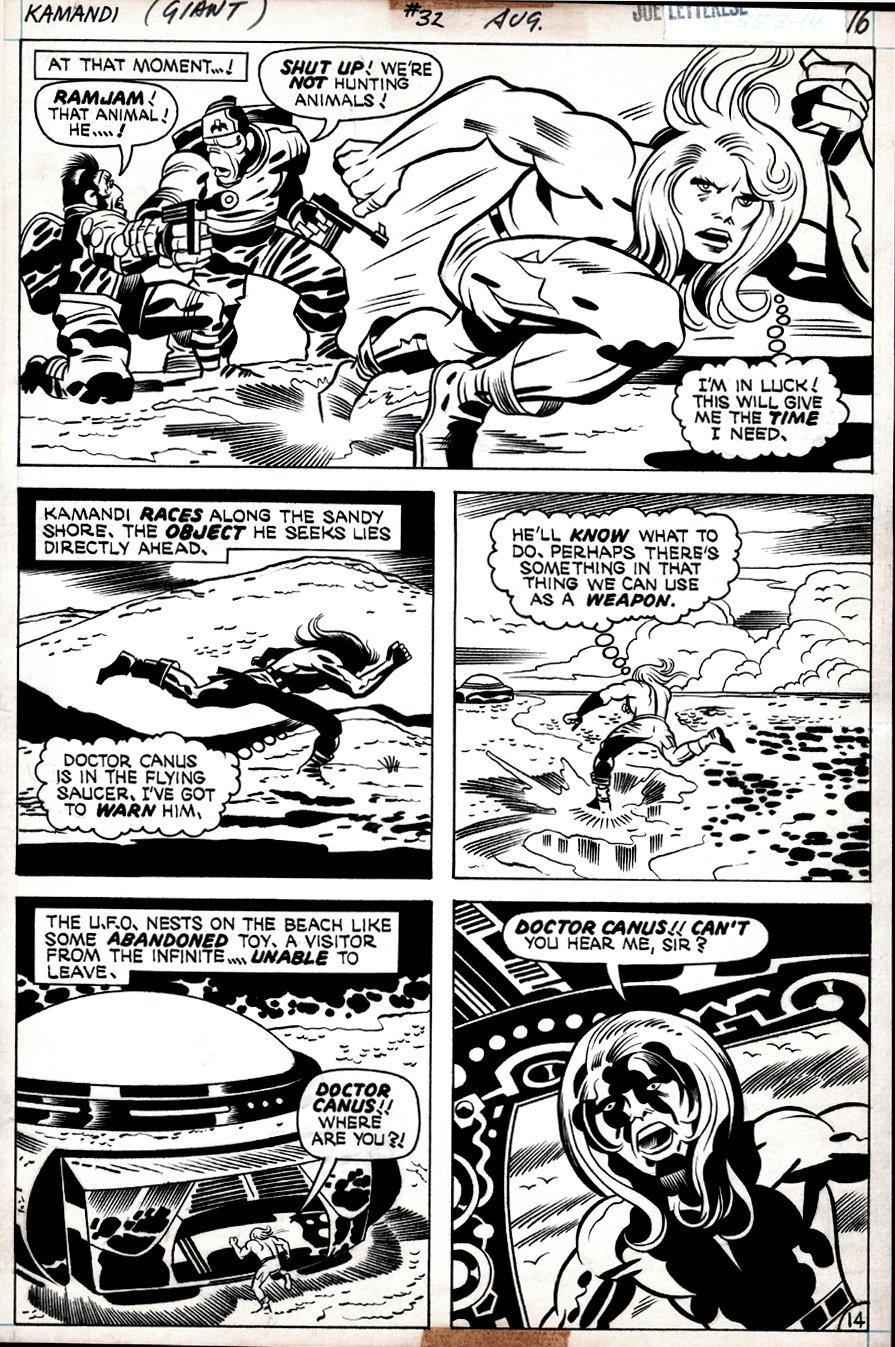 Kamandi #32 p 14 (BEST KAMANDI ACTION PAGE IN BOOK!) 1975