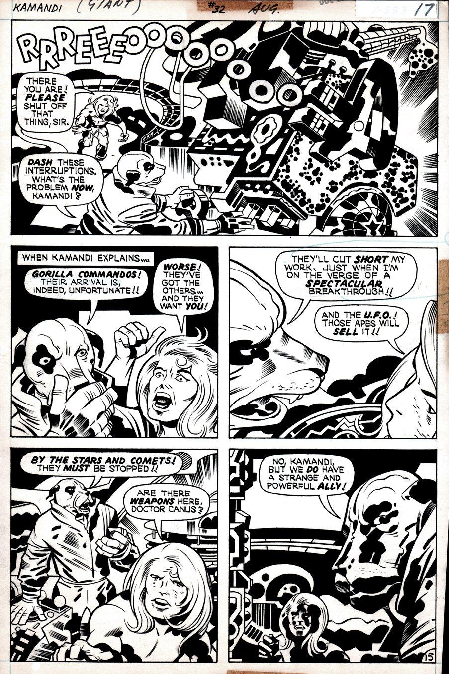 Kamandi #32 p 15 (Kamandi, Dr. Canus, 'ME'!) 1975